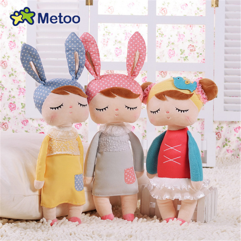 Kawaii Stuffed Plush Animals Cartoon Kids Toys for Girls Children Baby Birthday Christmas Gift Angela Rabbit Girl Metoo Doll 22cm kawaii plush cute cartoon stuffed backpack pendant baby kids toys for girls birthday christmas rabbit bear fox metoo doll