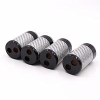 4Pcs hifi Carbon Fiber Pants Boot Y Splitter Speaker Audio Cable Wire pant 16mm