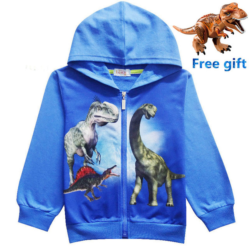New Jurassic World Dinosaur Children Toddler Boys T Shirt Spring Autumn Baby Gilrs Kids Hoodie Tops Tee for Boy Clothes Clothing 1