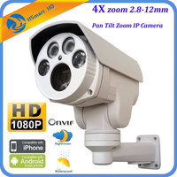 New HD 1080P 4X Auto Zoom 2 8 12mm Varifocal Lens 2 0MP PTZ Outdoor HI3516C