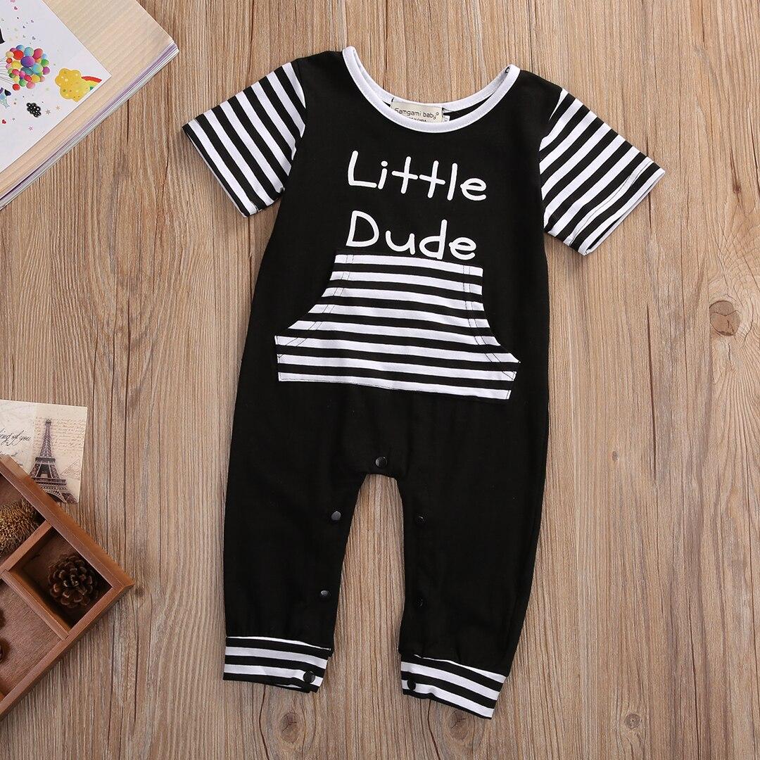 1c85dcf12517 2017 Little Dude Newborn Baby Boy Clothes Summer Short Sleeve ...