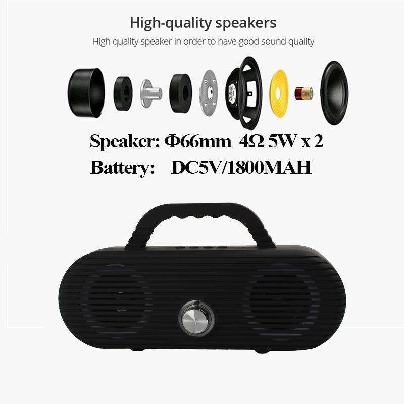 Image 2 - CM86 Portable Bluetooth Speaker Outdoor wireless column Waterproof Computer Speaker Soundbox With TF Card And USB FM radio-in Portable Speakers from Consumer Electronics