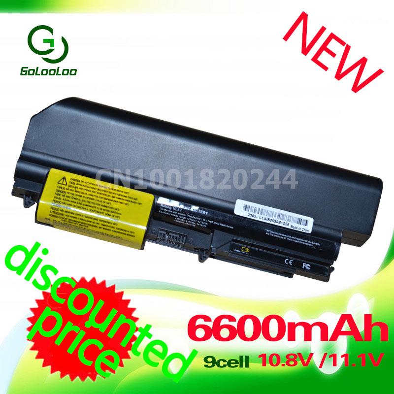 Golooloo 4400MaH Bateria para IBM lenovo ThinkPad R400 T400 R61 T400 R61i 42T4533 42T5265 42T4530 42T4532 42T4548 42T4645 42T5262
