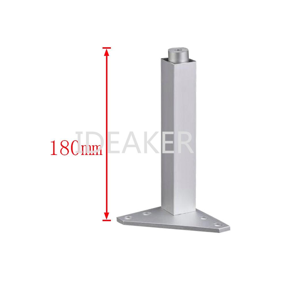 1PCS 180mm Aluminum Alloy Furniture Legs Adjustable Feet Silver Square Legs Cabinet Sofa Feet