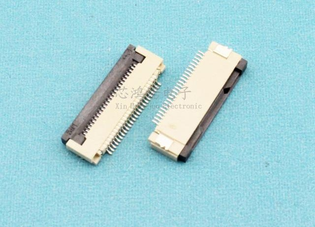 Wzsm New Ffc Fpc Ribbon Flat Cable Connector Socket 0 5mm Pitch Spacing 24pin 24 Pin Then Under Clamshell Ffc Fpc Connector 24 Pin Flat Cable Connector Socketribbon Cable Pitch Aliexpress