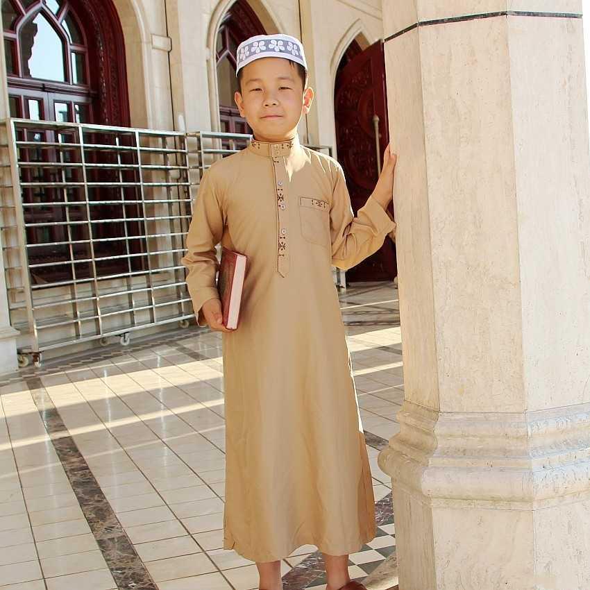 c36a3e40085 Detail Feedback Questions about Islamic Boy Jubba Thobe Muslim Clothing  Kaftan Arab Abaya Eid Prayer Cotton Children Robes Kids Islam for Boys  Clothes 80 ...