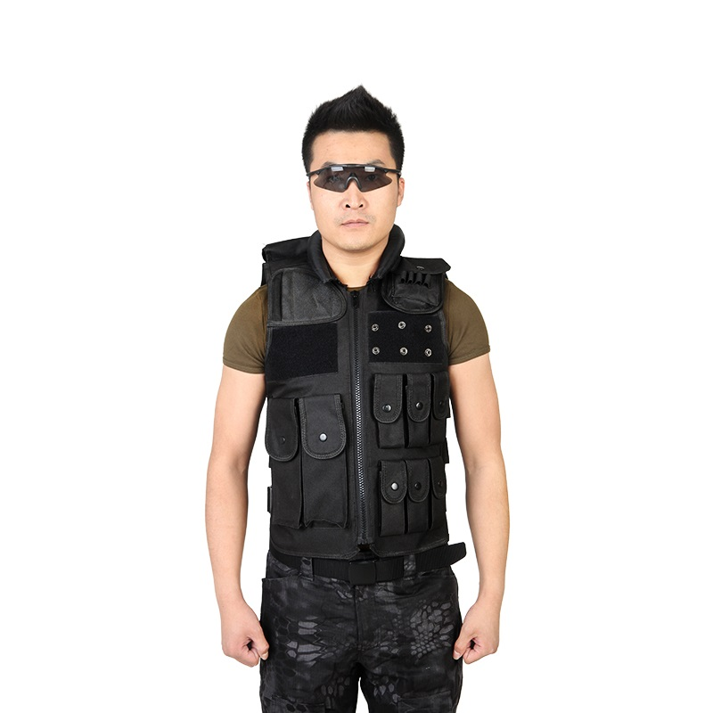 Security tactical vest outdoor CS field equipment black protective training vest collar detachable clothing length 60 cm transformers tactical vest airsoft paintball vest body armor training cs field protection equipment tactical gear the housing