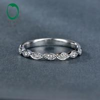 Caimao Jewelry 0.14ct природных алмазов 14 К White Gold Половина Вечность Обручение обручальное кольцо