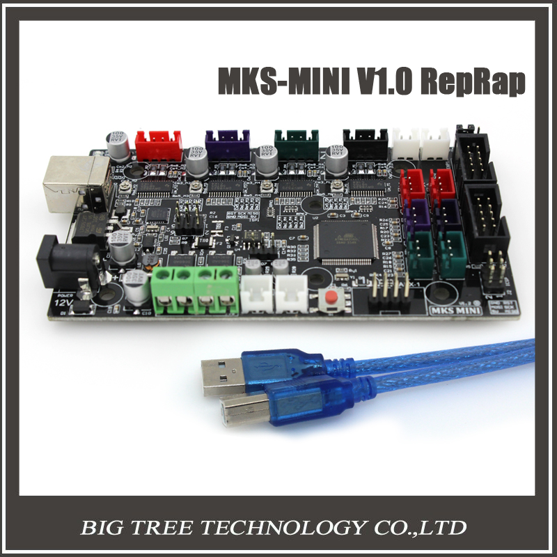 ФОТО free shipping MKS MINI V1.2 compatible Ramps1.4 One-Extruder and no bed printing integrated mainboard3D0097