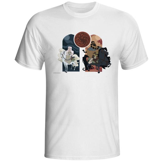 Game Of Thrones Cartoon Print Casual Fashion Men's T-shirt