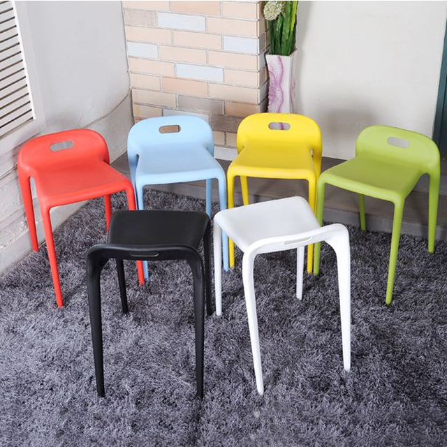 4 pieces for a lot PP Plastic Stacking Horse Chair Casual Dining Chair