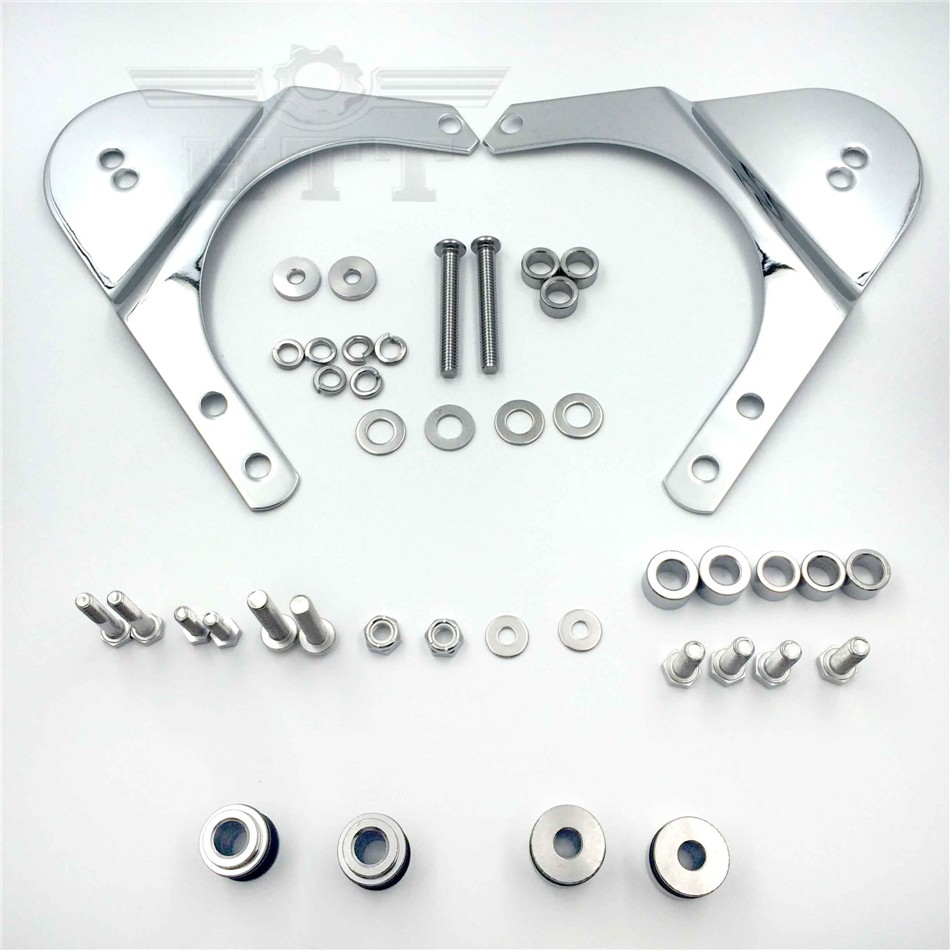 Rear Docking Hardware Kit For 1997-2008 Harley Davidson Touring Road King Road Glide Electra Glide Standard Street Glide CHROEMD abs hard saddlebags latch keys for harley road king electra street glide 14 18
