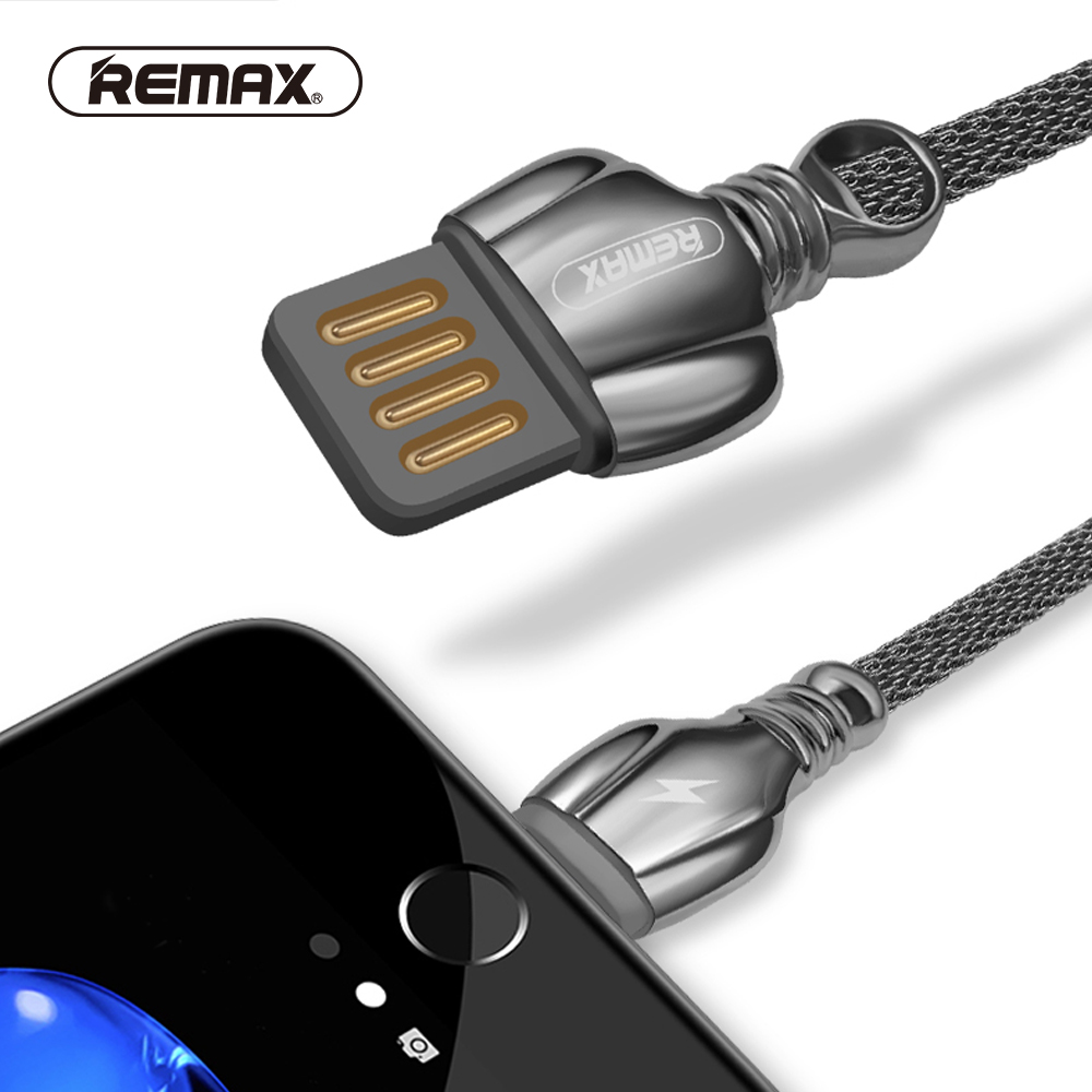 REMAX Dual side USB Metal Data Cable for phone 7 8pin Charging ...