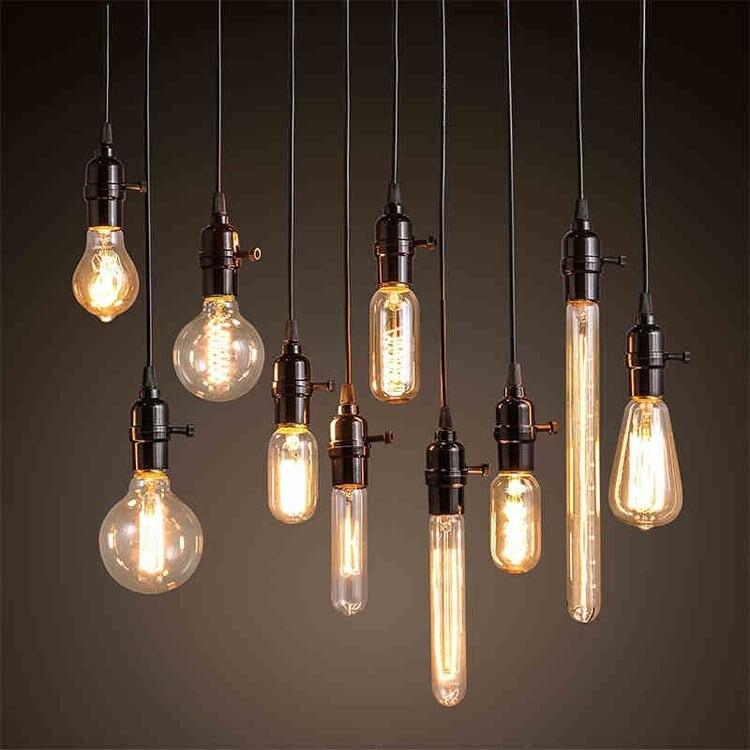 Vintage Industry lustre American Style Cord Pendant Lamp Plate Kitchen Dinning Living Room Modern Home Decor Lighting 7pcs/lot