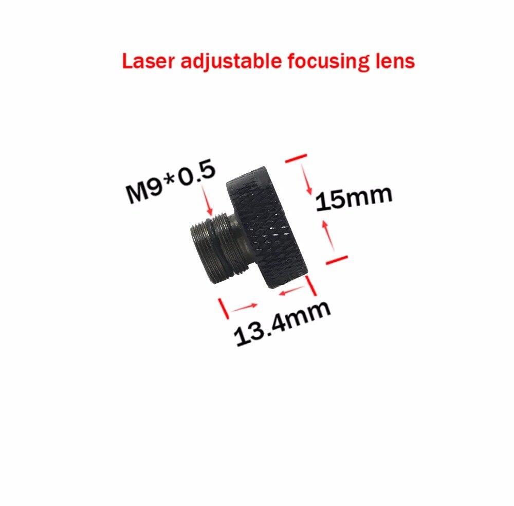 Adjustable focusing lens three Layer coated glass M9*0.5 for 405nm 445nm 450nm 1w 2w 2.5w 3w 5.5w laser diode module lens