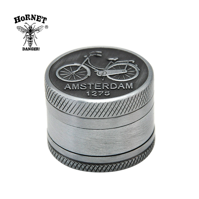 AMSTERDAM Herb Grinder Zinc Alloy 30 MM 3 Layers  Herb Grinder Spice Herbal  Crusher Hookah Pipe Hand Muller Tobacco Grinder