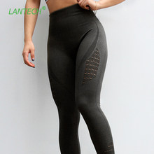 LANTECH Women Yoga Pants Sports Running Sportswear Stretchy Fitness Leggings Seamless Tummy Control Gym Compression Tights Pants(China)
