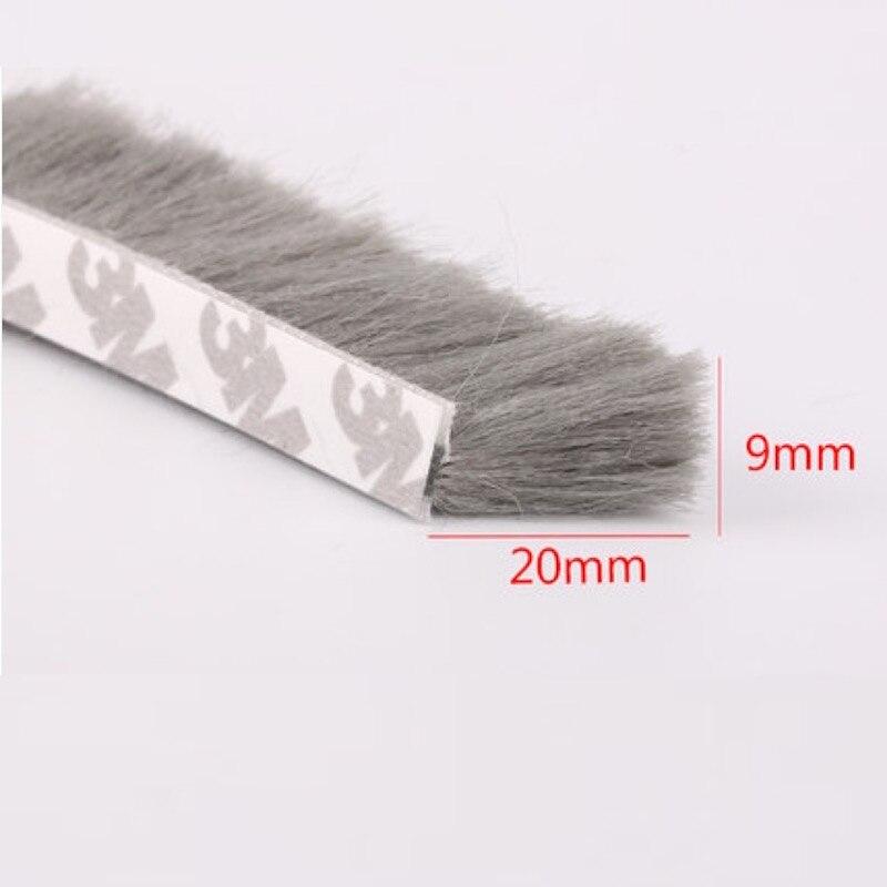 Fin Dichtung Pinsel Selbstklebende Dichtungsstreifen Fühlte Zugluft Schiebe fenster Tür Bürstendichtung 9mm x 20mm 5 mt Weiß Braun Grau