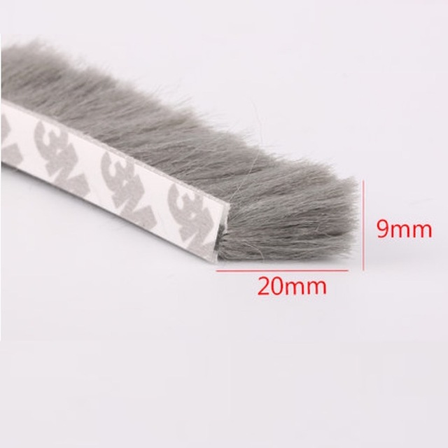 Fin Seal Brush Self Adhesive Weather Strip Felt Draught