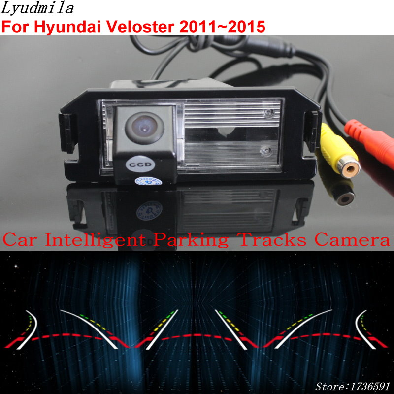 Lyudmila Car Intelligent Parking Tracks Camera FOR Hyundai Veloster 2011~2015 Car Back up Reverse Rear View Camera lyudmila car intelligent parking tracks camera for hyundai creta ix25 2014 2017 hd back up reverse car rear view camera