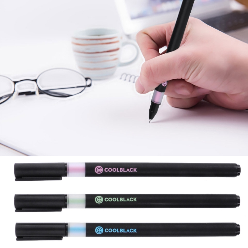 0 5mm Cool Black Gel Pen Writing Signature School Office Stationery Papelaria Gel Pen in Gel Pens from Office School Supplies