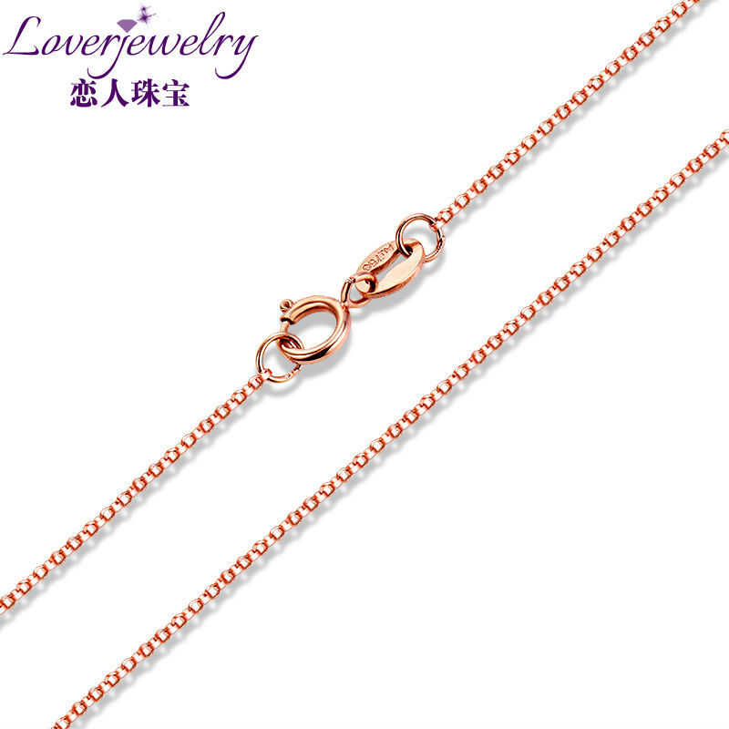 ELEGANT BOX CHAIN NECKLACE IN SOLID 18K 750 ROSE GOLD LENGTH 18 ABOUT 45CM
