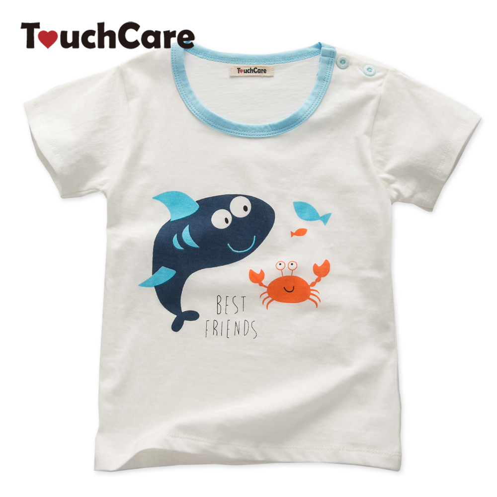 Touchcare Newborn Baby Boy Girl T-shirt Short Sleeve Cotton Infant Tops Blouses for Kids Summer Toddler T Shirts Baby Clothes