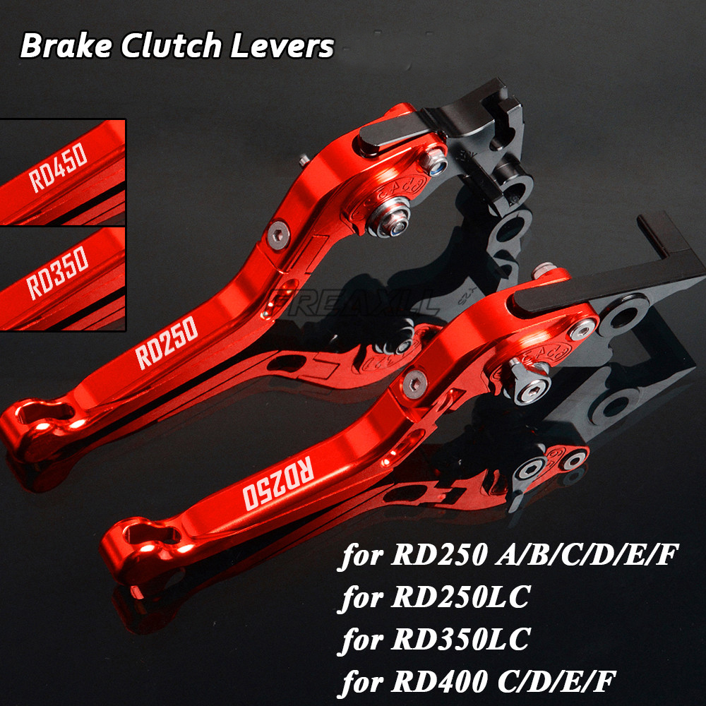 US $30 73 22% OFF For Yamaha RD250 A/B/C/D/E/F RD250LC RD350LC RD400  C/D/E/F RD 250 350 400 LC Foldable Extendable Motorcycle Brake Clutch  Levers-in