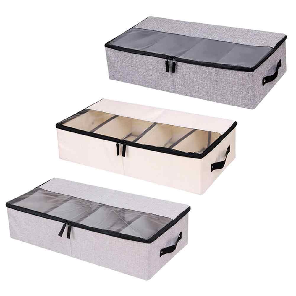 Складной отсек Коробка для хранения обуви стойка одежды прозрачный