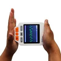 2016 Health Care Monitor Portable Easy ECG EKG Handheld Heart Rate Monitor Color LCD display Sensor PRINCE 180D Heart Monitor
