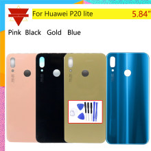 Rear Door Housing For Huawei P20 lite ANE-AL00, ANE-TL00, ANE-LX1, ANE-LX2 Back Cover Battery Case 3D Glass Rear Housing Cover(China)