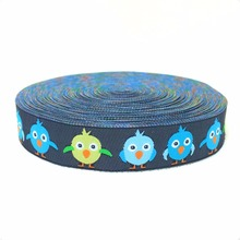 2014 NEW  wholesale 5/8 '(16 mmx10yards) Polyester Woven Jacquard Ribbon with sadly fat bird