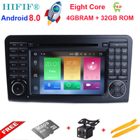 IPS 2 Din 7 Inch Android 8.0 4GB +32GB Car DVD Player For Mercedes/Benz/ML/GL CLASS W164 ML350 ML500 GL320 Canbus Wifi GPS Radio