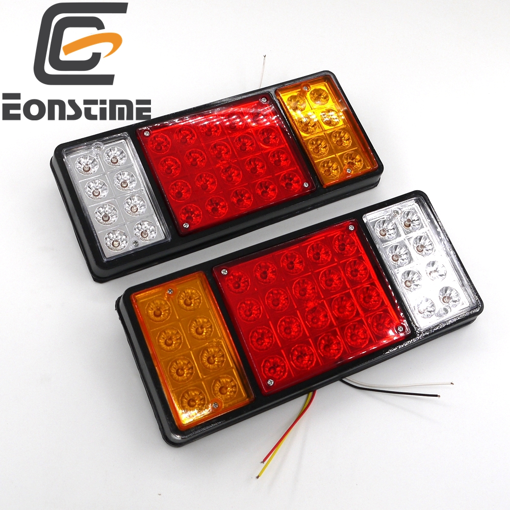 Eonstime 2pcs Rear 12V/24V Light for Truck 36 LED 2x Rear Lamps Tail Lights Boat Trailer UTE Camper Truck Van Indicator eonstime 2pcs 12v 16 led red white truck trailer boat stop turn tail light reverse light lamp waterproof