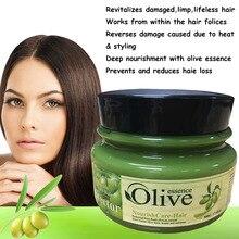 Оливковое масло активным Essece лечение для вьющихся сухой неуправляемым волос, Секущиеся кончики повреждены ремонт маска для волос лечение для волос 500 г