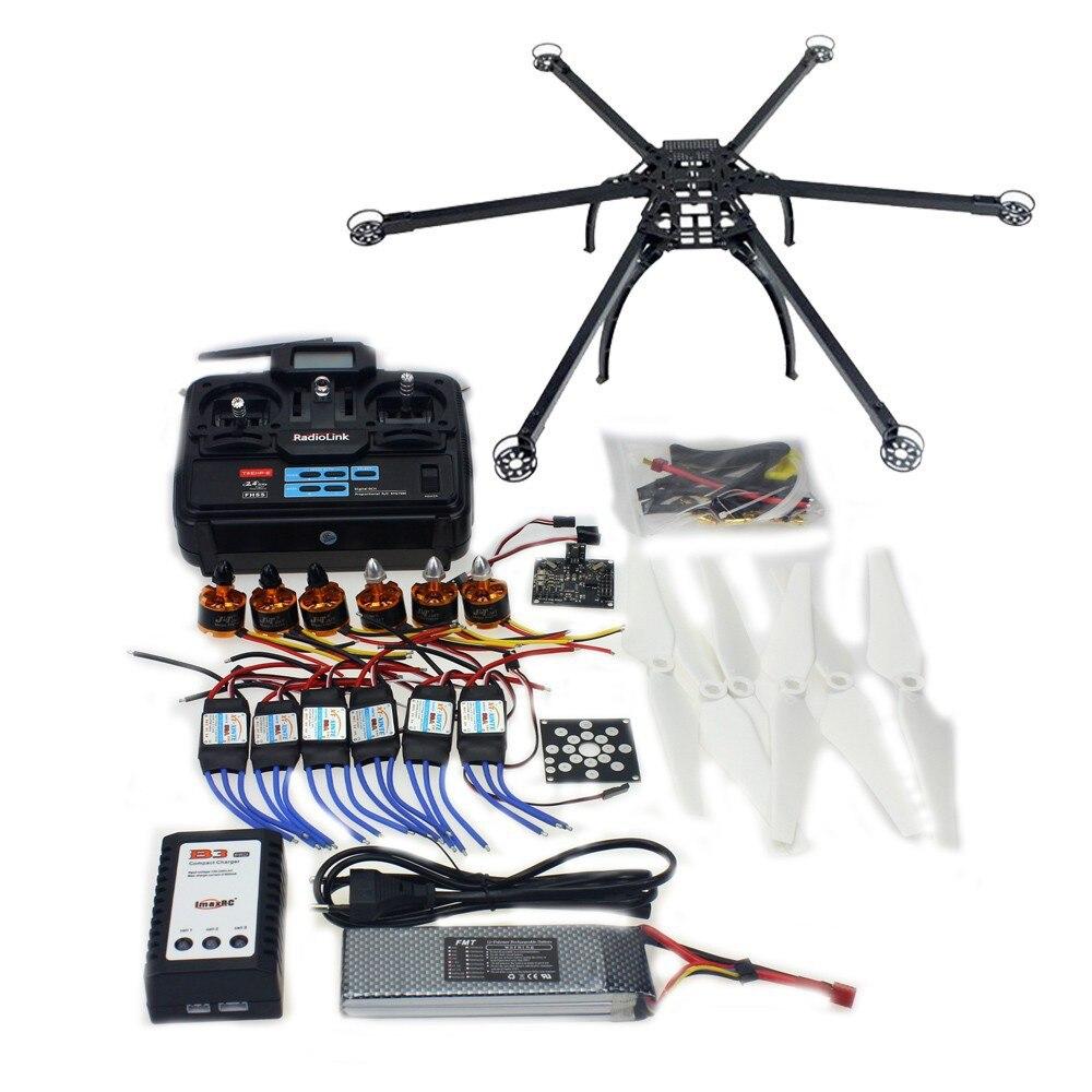 Six Axle Folding Hexacopter Aircraft Unassembled Full Frame Kit 6CH TX RX ESC Motor KK board