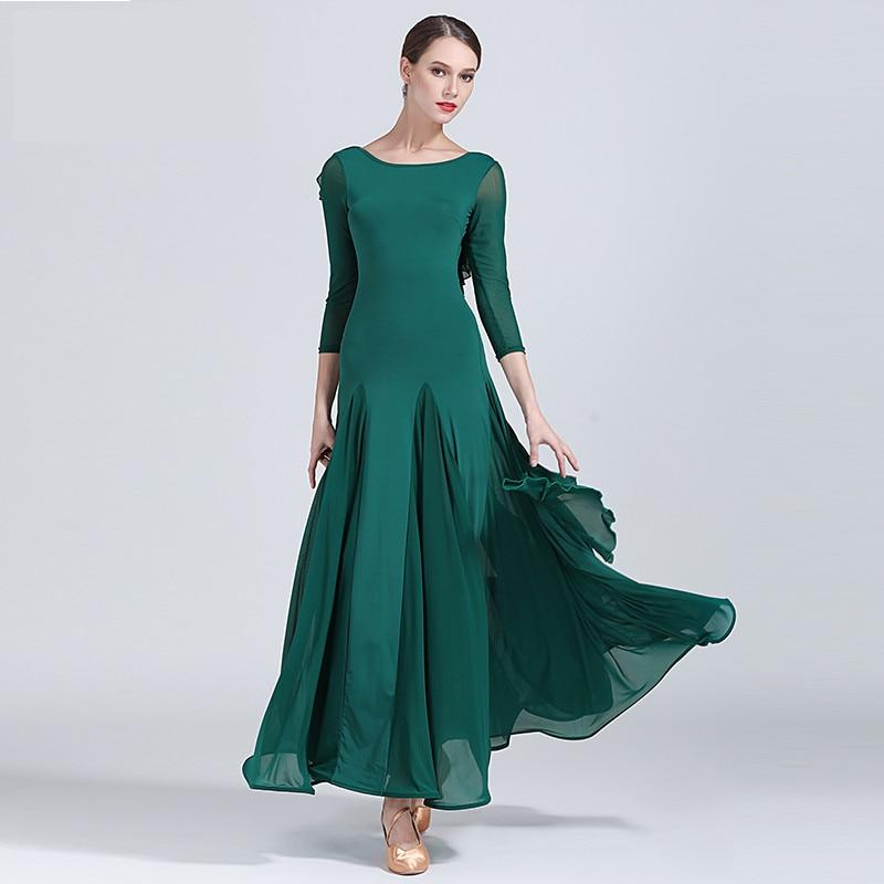 Picture of 2018 Fashion Sexy Lady Ballroom Dance Competition Dresses Women Standard Ballroom Waltz Dress Waltz Tango Costume Dresses