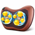 Infrared Heating Car Home Body 3D Massage Pillow neck cervical traction Massager Car Seat Cover Relaxation Massage 8 Ball