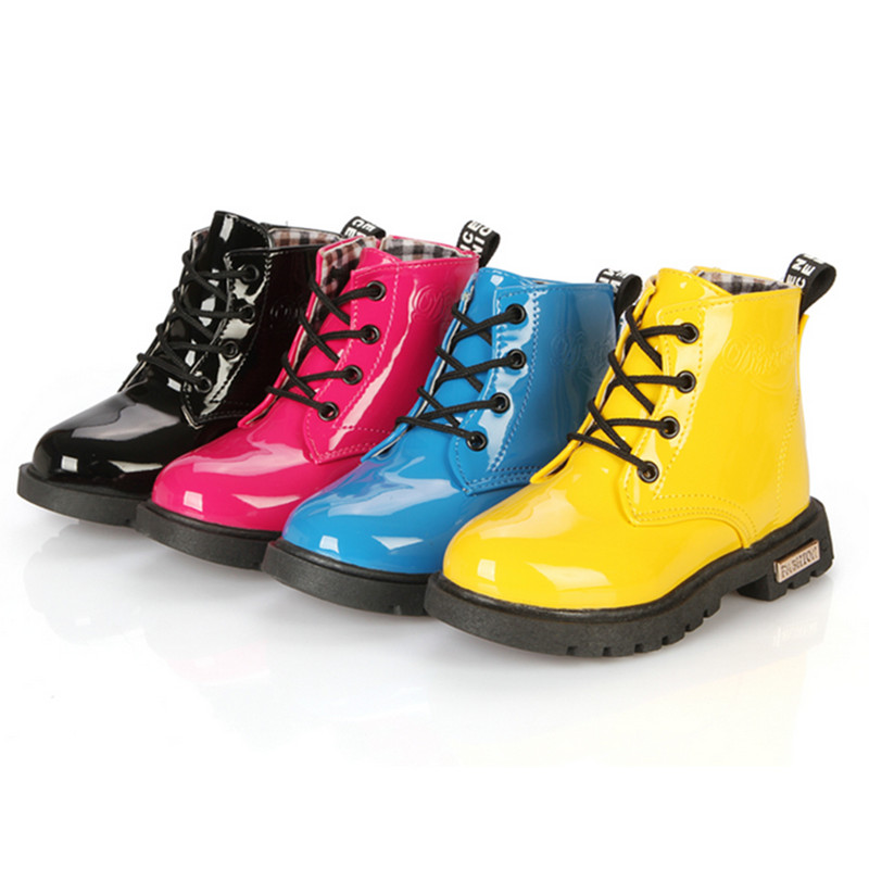 2018 Spring and Autumn Explosions Martins Boots Korean Candy-colored Waterproof Children's Boots Children Shoes children s suit suit spring and autumn boy dressed in big children korean flower children s clothing two candy colored jacket