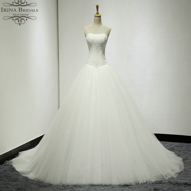 vestido de noiva vintage Sweetheart Lace Ball Gown Simple Wedding ...