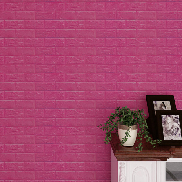 Wall Stickers PE Foam 3D Embossed Brick Stone Wallpaper Home Decor ...