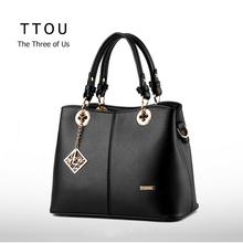 Elegant Lady Handbag New Fashion PU Leather Women Shoulder Bags Zipper Female Tote High Quality Top-handle Bolsas Femininas TTOU