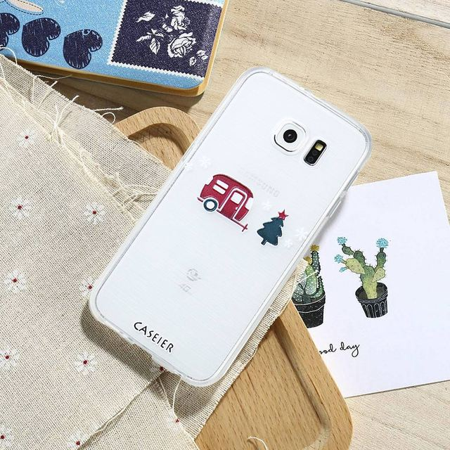 CASEIER Phone Case For Samsung Galaxy S6 S7 Edge S8 Plus Note 8 Cover Soft TPU 3D Christmas Winter Capa Shell Cute Snowman Cases