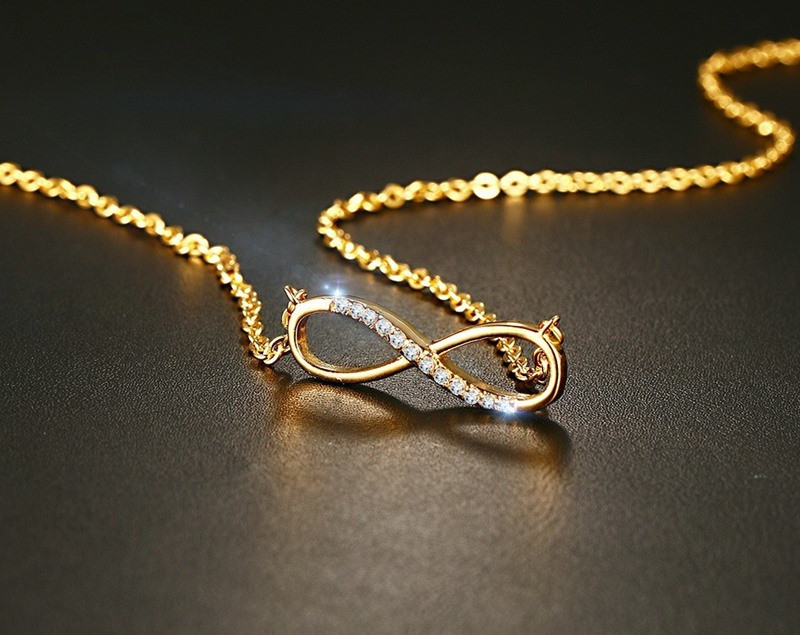 Diamond Infinity Pendant Necklace