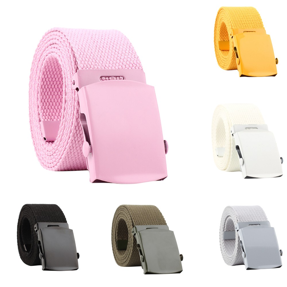 2019 Men Women Automatic Fashion Nylon   Belt   Buckle Fans Canvas   Belt   Thicken Long Cloth   Belts   Knitted Waistband Ceintures 3.6