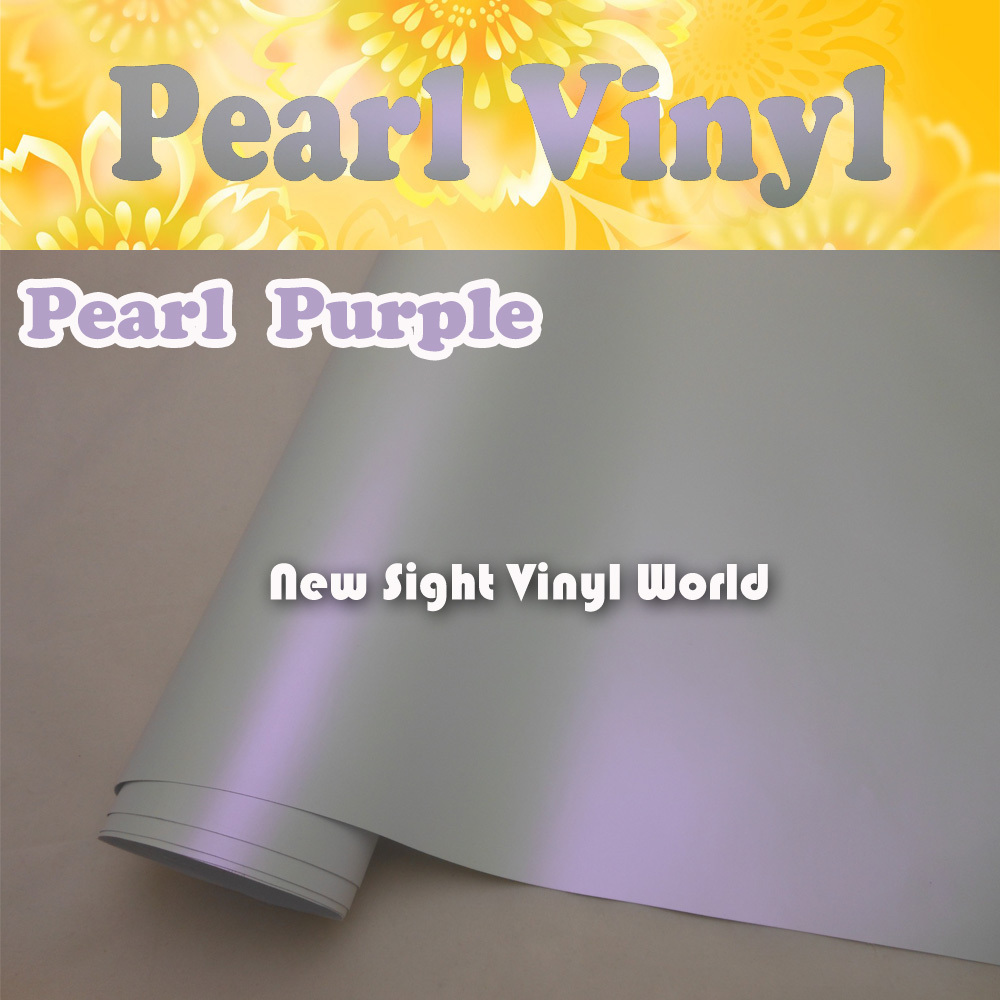 Premium Satin Purple White Matte Chameleon Pearl Vinyl Film Air Free Bubble Vehicle Wraps