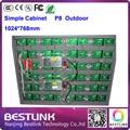 1024 * 768 mm gabinete com p8 exterior cores led painel de led rgb módulo de led de sinal de vídeo ao ar livre tela led