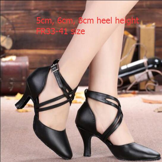 Women s Leather Dance font b Shoes b font Closed Pointed Toe Latin Ballroom font b