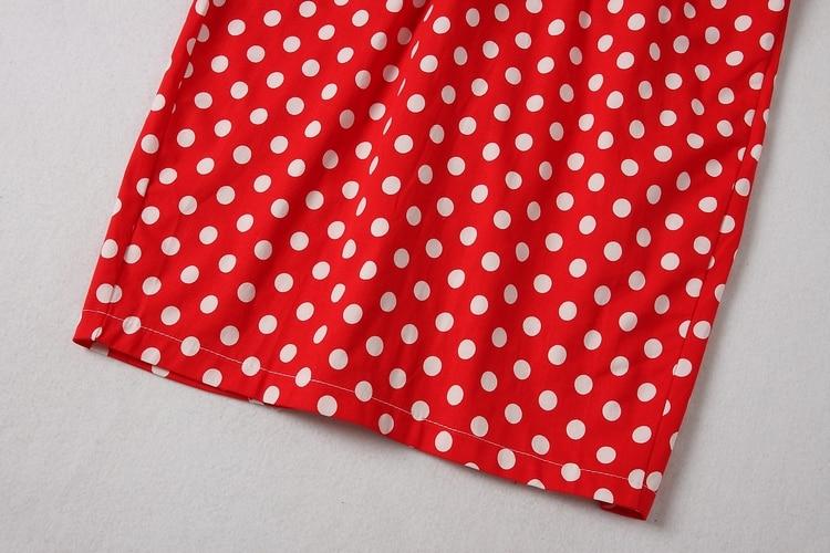 ALPHALMODA 18 New Polka Dot Shirt Pocket Dress Petal Sleeve Single Breasted Slim Sashes Women Fashion Summer Vestidos 17