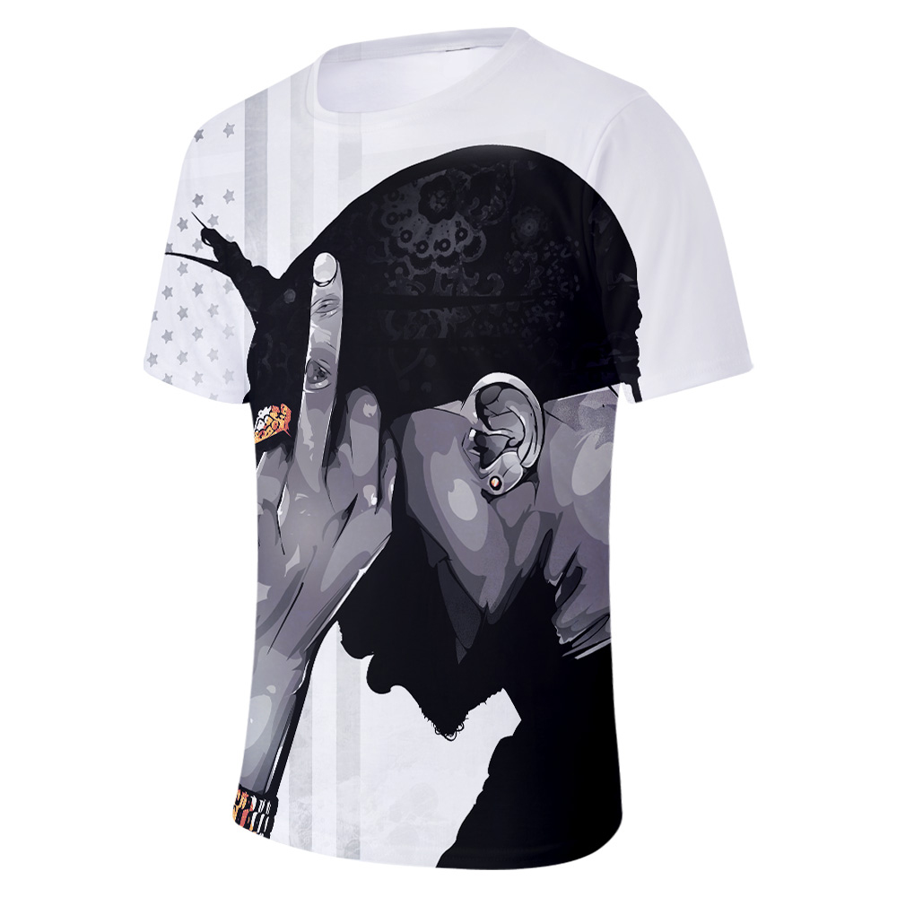 2019 New Rapper 2pac 3D print t shirts Men Women summer Casual t shirts Plus Size Short Sleeve Clothes 4XL in T Shirts from Men 39 s Clothing